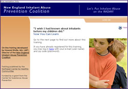 National Inhalant Abuse Training